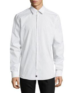 Slim Fit Printed Sport Shirt