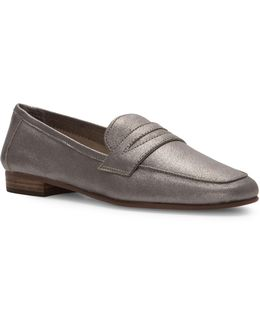 Womens Elroy Leather Penny Loafers