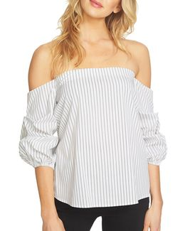 Off-the-shoulder Voluminous Sleeve Top