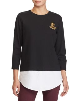 Petite Layered Bullion-crest Top