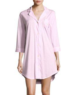Striped Sleep Shirt Plus