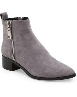 Marra Side Zip Leather Booties