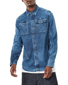 Landoh Check Denim Sport Shirt