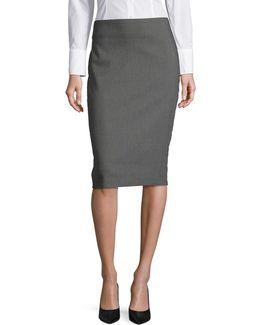Mod Dot Pencil Skirt