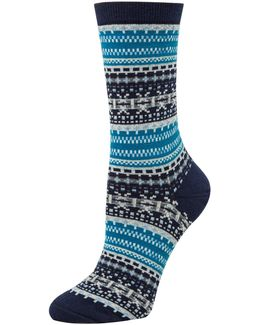 Two-pack Fairisle Crew Socks