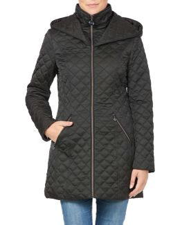 Quilted Jacket With Wrap Around Hood