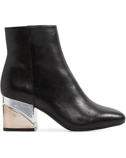 City Fashion Leather Booties