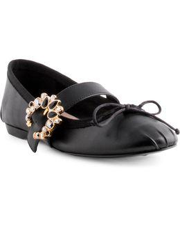 Xandi Bur Velvet Leather Mary Jane