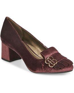 Olale Velvet Heeled Loafers