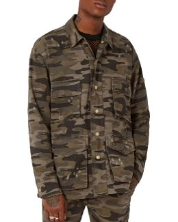 Aaa Camouflage Distressed Field Jacket