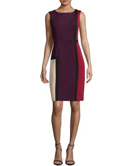 Colourblock Sheath Dress