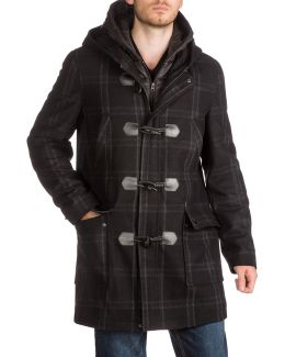 Plaid Toggle Coat