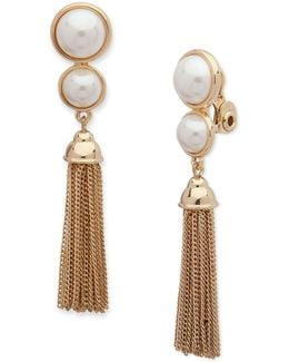 Pearlfect Faux Pearl Chain Dangle And Drop Earrings