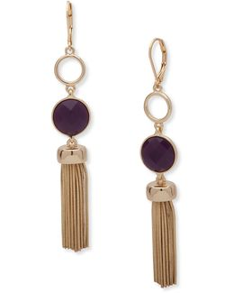 Snake Chain & Garden Glow Tassel Drop Earrings