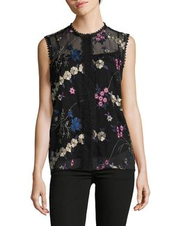 Laureen Floral Sleeveless Blouse