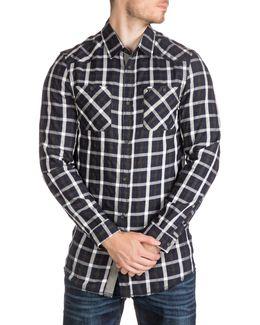 Macro Check Casual Button-down Shirt