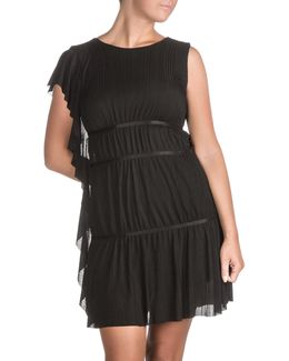 Asymmetrical Tyra Plisse Dress