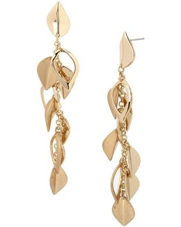 Leaf Textured Linear Earrings