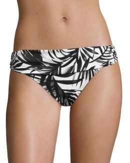 Classic Shirred Banded Hipster Swim Bottoms
