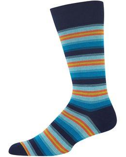 Ombre Multi Stripe Socks
