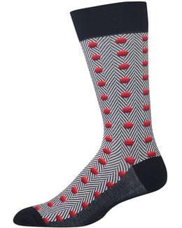 Herringbone Dots Socks