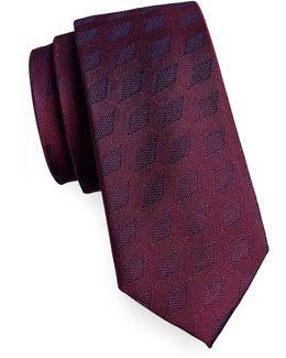Diamond Jacquard Silk Tie