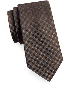 Silk Gingham Tie