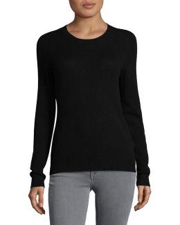 Petite Cashmere Crew Neck Sweater