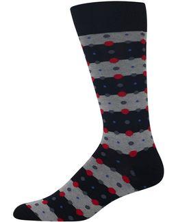 Feed Stripe Dots Socks