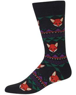 Fox Fair Isle Socks