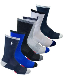Six-pack Athletic American Crew Socks Set