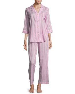 Printed Notch Collar Pyjamas