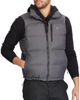 Water-repellent Down-filled Vest