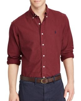 Standard-fit Oxford Cotton Casual Button-down Shirt