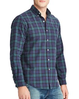 The Iconic Plaid Oxford Cotton Casual Button-down Shirt