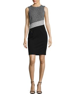 Panelled Sheath Dress