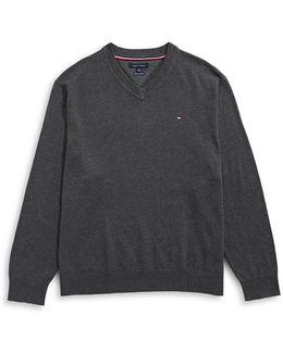 Signature Solid V-neck Sweater