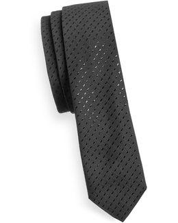 Super-skinny Metallic-silk Blend Tie