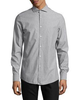 Textured Polka Dot Shirt