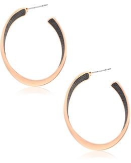Glitter Hoop Earrings