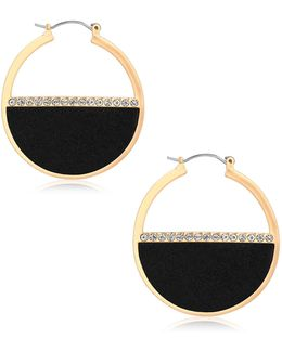 Ready, Set, Jet Pave Hoop Earrings