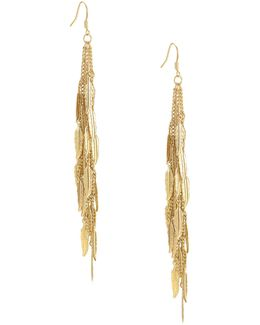 Goldtone Feather Earrings