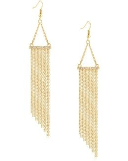 Goldtone Multi-chain Drop Earrings
