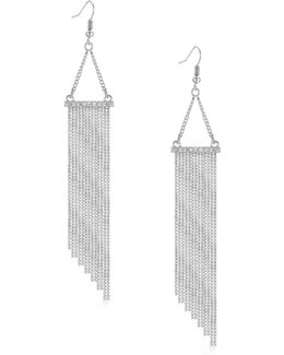 Silvertone Multi-chain Drop Earrings