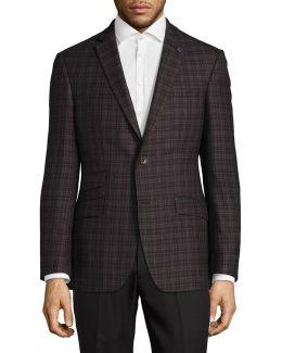 Joey Plaid Wool Sports Jacket
