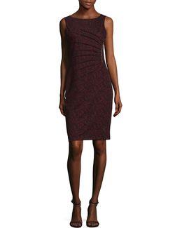 Starburst Jacquard Sheath Dress