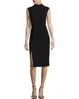 High-neck Sheath Dress