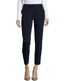 Soft High-waist Ankle Pants