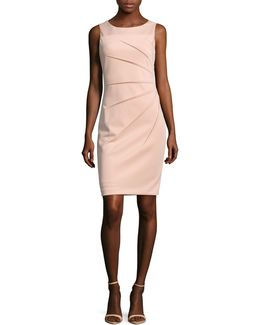 Starburst Scuba Sheath Dress