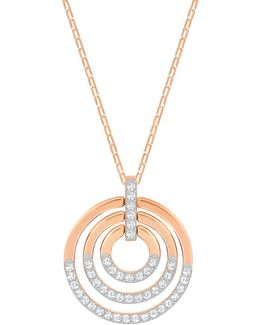 Circle Multi-tone Tiered Pendant Necklace